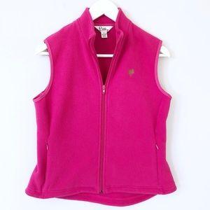 Lilly Pulitzer Pink Fleece Vest - Size S